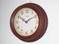 天然木とアンティーク調文字盤がお洒落!CAPITO掛け時計 Antique Wooden CBR