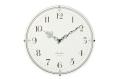 お部屋をお洒落に彩る ドーム掛け時計 CHAMBRE ホワイト CH-013WH