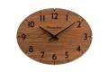 お部屋をお洒落に彩る オーバルドーム掛け時計 CHAMBRE ウォルナット CH018WN  R-CLOCK GC-STYLE