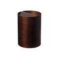 木目が綺麗でスマートな蓋付きゴミ箱 Bass wood  DH952A φ20.5×28.5cm