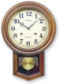 さんてる アンティーク調振り子時計 電波スイープムーブメント DQL623 サンテル 日本製