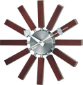 斬新なデザインで壁面を飾る 掛け時計 インスパイアクロック GN134WB ジョージネルソン