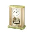 悠然と時を刻む風格のオニキス・クロック! セイコー置時計エンブレム SEIKO置き時計 HW444M