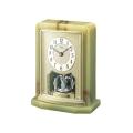 悠然と時を刻む風格のオニキス・クロック! セイコー置時計エンブレム SEIKO置き時計 HW465G