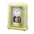 重厚な佇まいで悠然と時を刻む風格のオニキス・クロック! セイコー置時計エンブレム SEIKO電波置き時計 HW521M