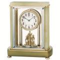 重厚な佇まいで悠然と時を刻む風格のオニキス・クロック!セイコーメロディ置時計エンブレム  SEIKO電波置き時計 HW578M