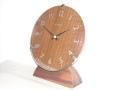 ドームガラスがお洒落! INHOUSEインハウス製置き時計 ドームデスククロック ウォルナットM29WB