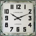 レトロでお洒落なスクエアミラー!ロジャーラッセルRogerLascelles社製 掛け時計 MANHATTAN-LRG