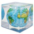 """ゆっくりと回り続ける不思議な地球儀 5""""MOVA CUBE  GLOBES  ムーバキューブグローブ MC5RBE  φ12.7cm Blue with Relief Map"""
