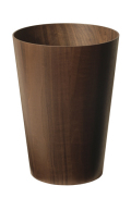 木目が綺麗なダストボックス(ゴミ箱) ウォルナットwood No905WN φ28.5×40