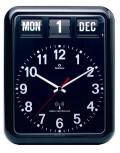 TWEMCOカレンダー電波時計 RC-12Aブラック 掛け時計