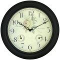 アンティーク調の防水、温湿度計付き掛け時計です!ロジャーラッセルRogerLascelles社製 掛け時計 TS-GARDEN