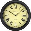 レトロ調なステーションクロックです。 ロジャーラッセルRogerLascelles社製 掛け時計 TS-STATION-BLK