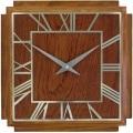 レトロでお洒落なスクエアウッド!ロジャーラッセルRogerLascelles社製 掛け時計 WD-DECO-SQAURE