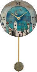 陶器の温かさとイタリアンアートに溢れる魅力! アントニオ・ザッカレラ陶器振り子時計ZC101-A04