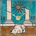 陶器の温かさとイタリアンアートに溢れる魅力! アントニオ・ザッカレラ陶器置き掛け兼用時計ZC148-A04
