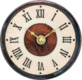 陶器の温かさとイタリアンアートに溢れる魅力! アントニオ・ザッカレラ陶器置き掛け兼用時計ZC154-009