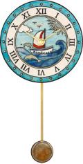 陶器の温かさとイタリアンアートに溢れる魅力! アントニオ・ザッカレラ陶器振り子時計ZC173-004