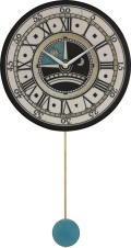 陶器の温かさとイタリアンアートに溢れる魅力! アントニオ・ザッカレラ Antonio Zaccarella 陶器振り子時計ZC180-003 掛け時計