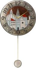 陶器の温かさとイタリアンアートに溢れる魅力! アントニオ・ザッカレラ Antonio Zaccarella 陶器振り子時計 ZC900-001
