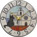 陶器の温かさとイタリアンアートに溢れる魅力! アントニオ・ザッカレラ陶器 置き掛け兼用時計 ZC906-003