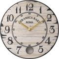 陶器の温かさとイタリアンアートに溢れる魅力! アントニオ・ザッカレラ Antonio Zaccarella 陶器振り子時計ZC912-003 掛け時計