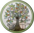 陶器の温かさとイタリアンアートに溢れる飾り皿! アントニオ・ザッカレラD002陶器飾り皿 ZD002-005