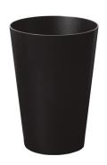 ブラックカラーのダストボックス(ゴミ箱) タモ木目 wood 905B φ28.5×40