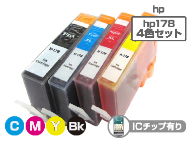 hp(�ҥ塼��åȡ��ѥå�����)�������ȥ�å� HP178XL-4PK/4���ѥå�������