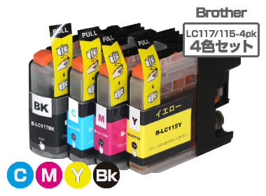 Brother(�֥饶��)�������ȥ�å���LC117/115-4PK/4���ѥå�