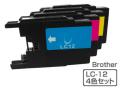 Brother(ブラザー)インクカートリッジ LC12-4PK/4色パック