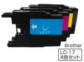 Brother(�֥饶��)�������ȥ�å� LC17-4PK/4���ѥå�