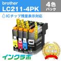 Brother(�֥饶��)�������ȥ�å���LC211-4PK/4���ѥå�