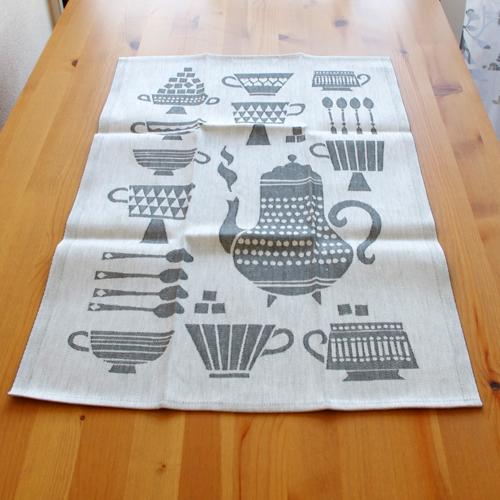 LapuanKankurit(ラプアンカンクリ) キッチンタオル KUPPILA White-Gray