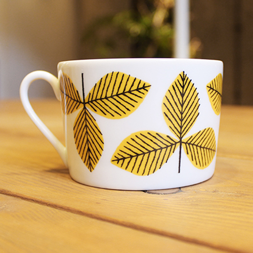 House of Rym (ハウスオブリュム) ティーカップ Yellow leaves