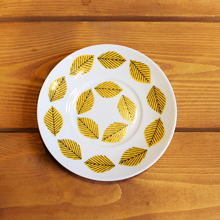 House of Rym (ハウスオブリュム) ソーサー Yellow leaves