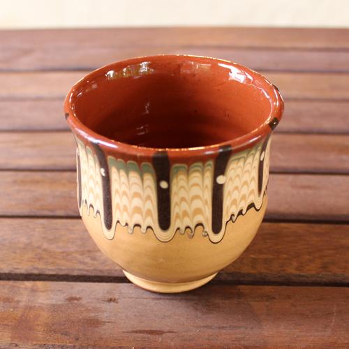トロヤン陶器 カップ(イエロー)