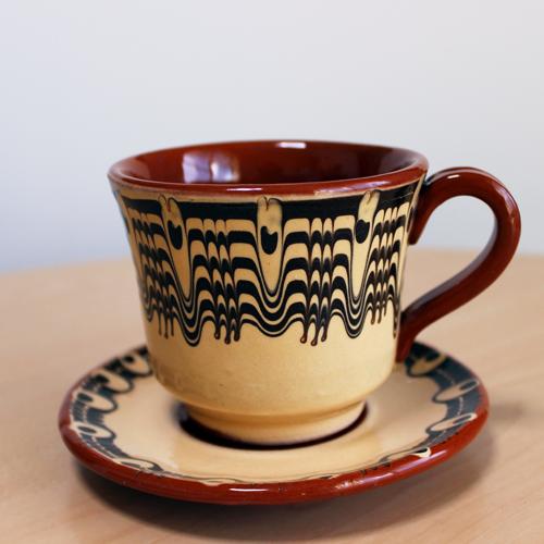 トロヤン陶器 カップ&ソーサー(ホワイト)
