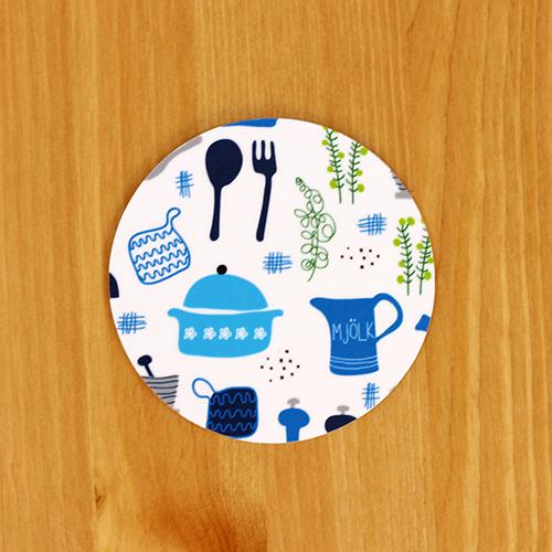 Scandinavian Pattern Collection(スカンジナビアンパターンコレクション) コースター/Retro kitchen(レトロキッチン)