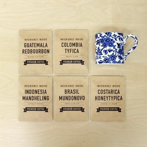 【ギフトセット】コーヒードリップバッグ5種&Burleigh(バーレイ) ブルーアーデン マグカップ