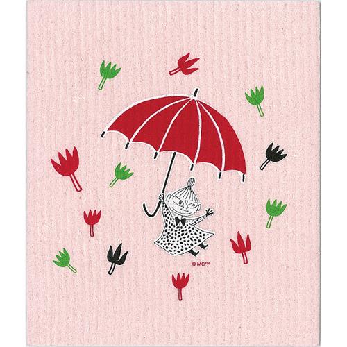 ムーミン スポンジワイプ ミィと傘(ピンク)