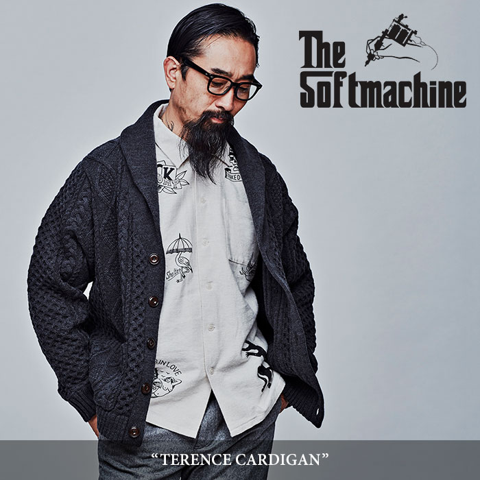 SOFTMACHINE(ソフトマシーン)  TERENCE CARDIGAN(SHAWL COLLAR CARDIAN) 【2017AUTUMN/WINTER新作】 【即発送可能】【送料無料】