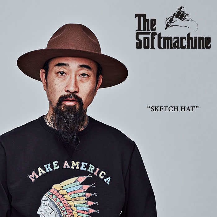 【SALE30%OFF】 SOFTMACHINE(ソフトマシーン) SKETCH HAT(FELT HAT) 【2017AUTUMN/WINTR新作】 【送料無料】【即発送可能】 【S