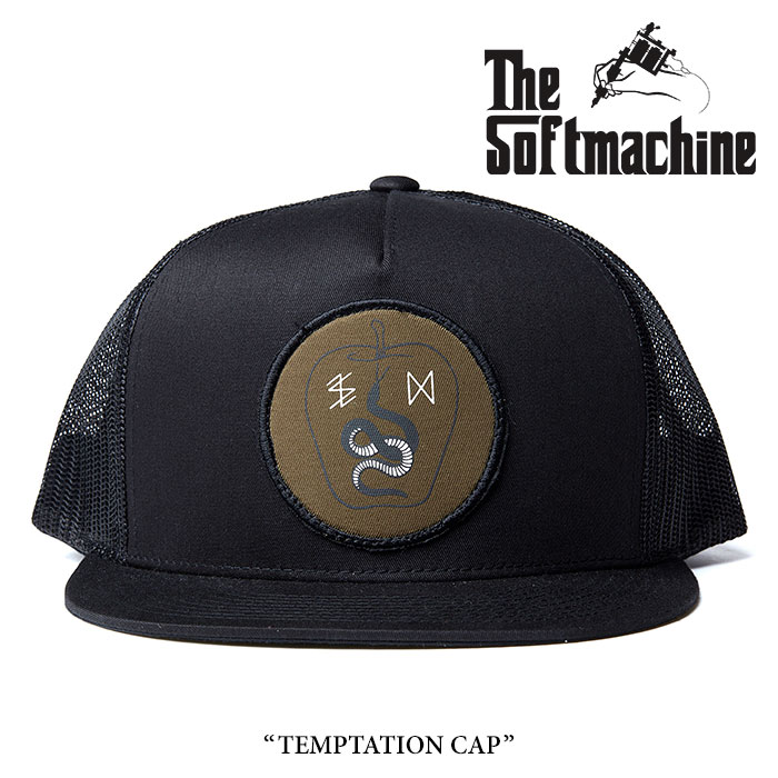 SOFTMACHINE(ソフトマシーン) TEMPTATION CAP(MESH CAP) 【2017AUTUMN/WINTE新作】 【即発送可能】 【SOFTMACHINE キャップ】
