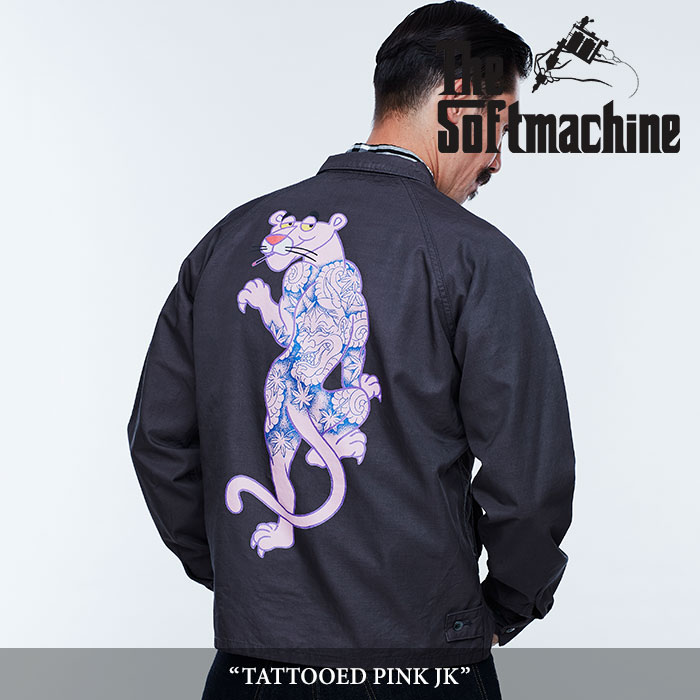SOFTMACHINE(ソフトマシーン) TATTOOED PINK JK(DRIZZLER JACKET) 【2018SPRING/SUMMER新作】 【即発送可能】【送料無料】 【SOF
