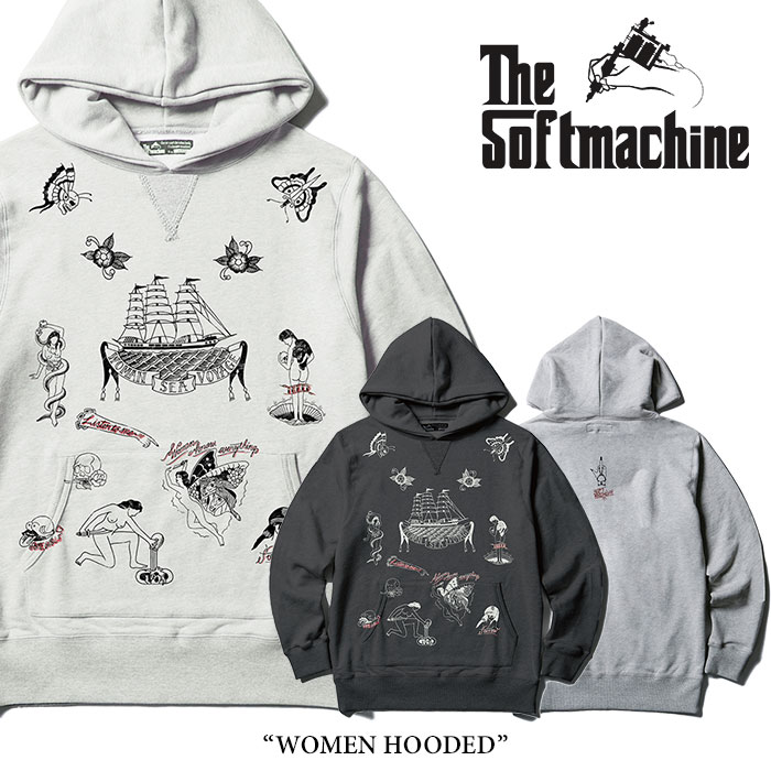 SOFTMACHINE(ソフトマシーン) WOMEN HOODED(SWEAT PARKA) 【2018SPRING/SUMMER新作】 【即発送可能】【送料無料】 【SOFTMACHINE