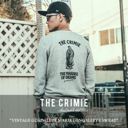 CRIMIE(クライミー) VINTAGE GUADALUPE MARIA LONG SLEEVE SWEAT 【2018SPRING/SUMMER新作】 【送料無料】【即発送可能】 【C1H1