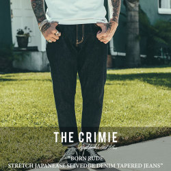 CRIMIE(クライミー) BORN RUDE STRETCH JAPANEASE SELVEDGE DENIM CROPPED JEANS 【2018SPRING/SUMMER新作】 【送料無料】【即発
