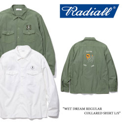 RADIALL(ラディアル) WET DREAM REGULAR COLLARED SHIRT L/S 【2018 SPRING&ampSUMMER新作】 【送料無料】【即発送可能】 【RADIALL