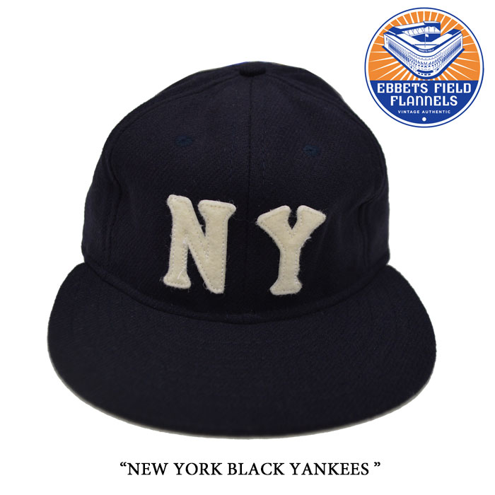 EBBETS FIELD FLANNELS(エベッツフィールドフランネルズ) NEW YORK BLACK YANKEES 1936 【EBBETS FIELD FLANNELS ウールキャップ】